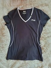 Women's Small Fila Sport Black and White Athletic T-Shirt Top