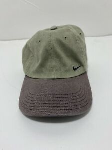 VINTAGE 90's NIKE Fitted Hat SIZE 7 Beige Baseball Cap Cotton