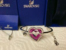 100% Authentic Swarovski Beautiful Pink Crystal Heart Bracelet