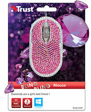 NEW TRUST 20185 BLING BLING GLAMOUR OPTICAL USB MINI MOUSE
