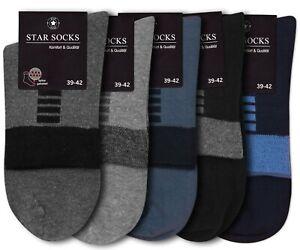 5 Paar Herrensocken Kurz Schaft Socken Quarter Komfortbund ohne Gummi blau grau