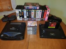 Neo Geo Aes console and Cd console lot plus games