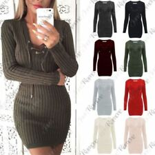 Long Sleeve Lace Up Jumper Dresses for Women