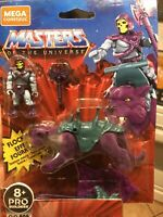 Mega Construx 2020 Masters of the Universe Skeletor & Flocked Panthor FREE SHIP