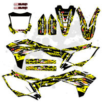 ISLAND STIRKE: YELLOW 2017 2018 KXF 250 GRAPHICS KIT KAWASAKI KX250F DECALS