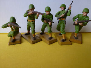 BRITAINS 1971 DEETAIL WW2   COLLECTABLE AMERICAN TOY SOLDIERS