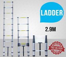NEW 2.9M Alloy Telescopic Aluminium Ladder Alloy Extension Extendable Multi