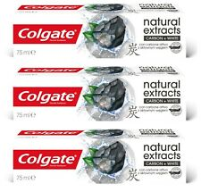 Colgate Natural Extracts Charcoal Toothpaste  Pack of 3 75 ml White Teeth