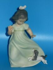 1991 Lladro Morning Glory Daisa Little Girl & Dog Figure