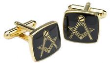 Masonic Black & Gold Cufflinks Cuff Links