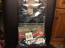 NEW-Dickies Short Sleeve Yarn Dye Twill Med Original Fit Shirt Pen Pocket