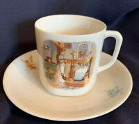 Antique Weimar German Childs Cup And Saucer Ivory Porcelain