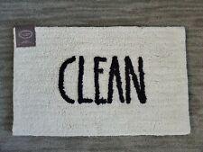 NWT! Rae Dunn CLEAN Bath Rug Mat Farmhouse Shower Decor Kids Bathroom