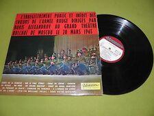 Boris Alexandrov Les Choeurs De L'Armée Rouge RARE 1965 France LP USSR Russian