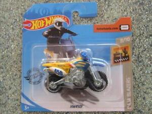 Hot Wheels 2020 #028/250 HW450F like Kawasaki yellow @B