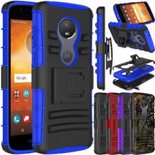 For Moto E5 Play/Cruise Shockproof Hybrid Clip Holster Kickstand Case Hard Cover