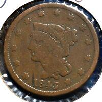 1843 1C Braided Hair Cent (57820)