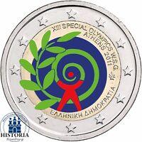 Griechenland 2 Euro Münze Special Olympics in Athen 2011 Gedenkmünze in Farbe