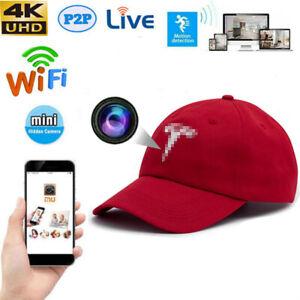 New app 4K HD Live streaming wifi Baseball Hat TRUCKER Cap Camera Hidden Spy DVR
