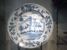 Antique Dutch Plate 18th century delft blue delftware delfts plate