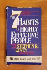 The 7 Habits of Highly Effective People 1989 Cassette 90 Minute Tape Covey Learn