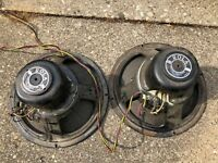 """Pair of Vintage Rola G-12 12"""" Electro-Dynamic Speakers Tested 245 & 5100 ohms"""