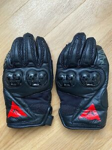 Dainese Mig C2 Leather Motorcycle Gloves Mens Short Cuff Size XXL