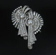 Vintage 10.50ct Diamond & Platinum Double Clip Brooches