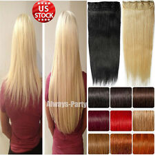 35% Off Cheap Price Clip In Remy Human Hair Extensions One Piece DIY US Stock A8