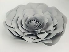 Decor In The Box - Grey Color Handmade Paper Flower 12 inch Fully Assembled