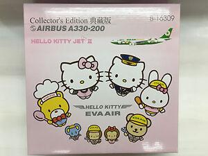 Hogan Wings 3640, AirBus A330-200, B-16309, EVA AIR, Hello Kitty Jet II, 1:200
