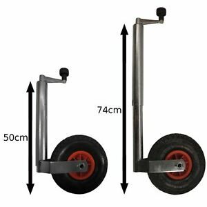 Heavy duty pneumatic jockey wheel and clamp (48MM)TR005