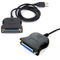 USB 2.0 to Parallel Adapter LPT DB25 Printer Cable Adapter Converter