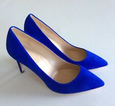 $245  NEW JCrew Everly Suede Pumps Womens Size 7.5 Blue Bird Womens Shoes Heels