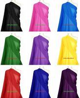 "POLYESTER CHIFFON FABRIC Plain Dress Soft Bridal & Craft Material 44"" Wide Sheer"