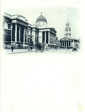 POSTCARD LONDON National Gallery  Divided Front  Circa 1900