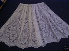 """Heavy traditional lace net curtain 24"""" drop WHITE"""