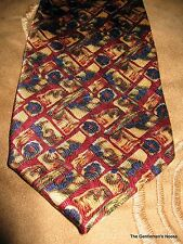 Jerry Garcia Collector's Edition Green Tan Rust Blue Silk Tie
