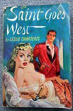 LESLIE CHARTERIS Saint Goes West SIMON TEMPLAR Avon 420 Vintage Paperback