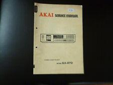 Original Service Manual Schaltplan Akai GX-R70