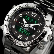 INFANTRY Mens Digital Quartz Wrist Watch Date Chrono Army Sport Stainless Steel