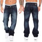 Rock Creek Pantalones Vaqueros Hombre Azul Corte Recto Pierna Recta rc-2091