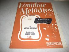 FAMILIAR MELODIES FOR BALDWIN ORGANS SHEET MUSIC SONGBOOK 1954 32pgs