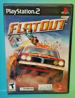 FlatOut Racing  PS2 Playstation 2 COMPLETE Game 1 Owner FLAWLESS Mint Disc