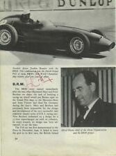 Jo Bonnier BRM P48 Monaco Grand Prix 1959 Signed Book Page
