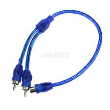 1Pc 30cm Car Auto Audio Stereo 1 RCA Female to 2 RCA Male Y Splitter Cable AU