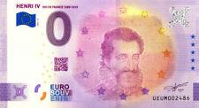 63 CLERMONT-FERRAND Henri IV, 2021, Anniversaire, Billet Euro Souvenir