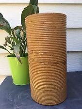 Zanesville Stoneware mid century modern, Homespun 4010 light brown Carmel Vase