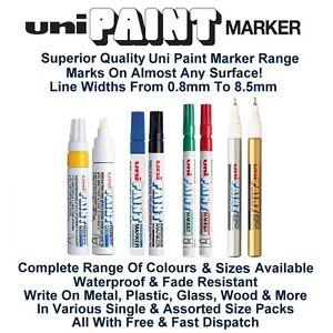 Uni Colour Oil Paint Marker Pen Metal Glass Wood Plastic Stone Outdoor Nib Tip