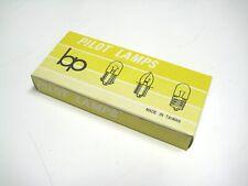 BP #47 bulb, box of 10, tube amp pilot light bulbs, nickel plate brass base